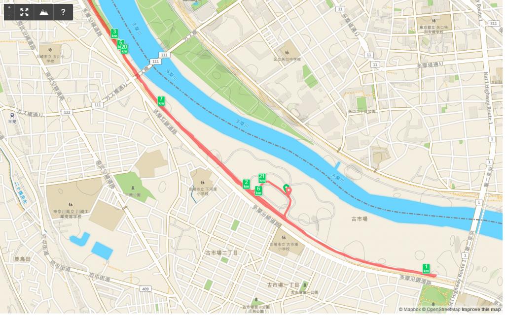 多摩川HM1km-3km