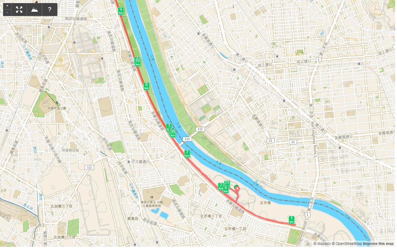 多摩川HM1km-6km